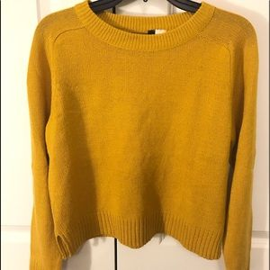 Yellow H&M knit sweater